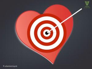 Zielscheibe-Herz